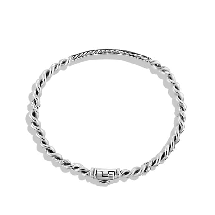 Petite Pavé Curb Link ID Bracelet with Diamonds