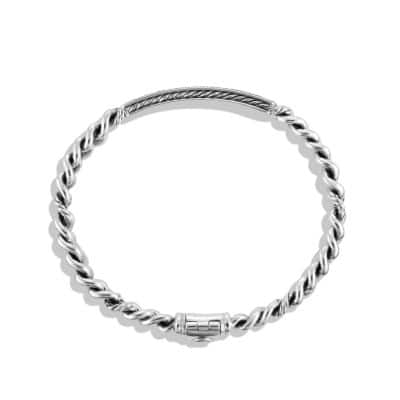 Petite Pavé ID Bracelet with Black Diamonds