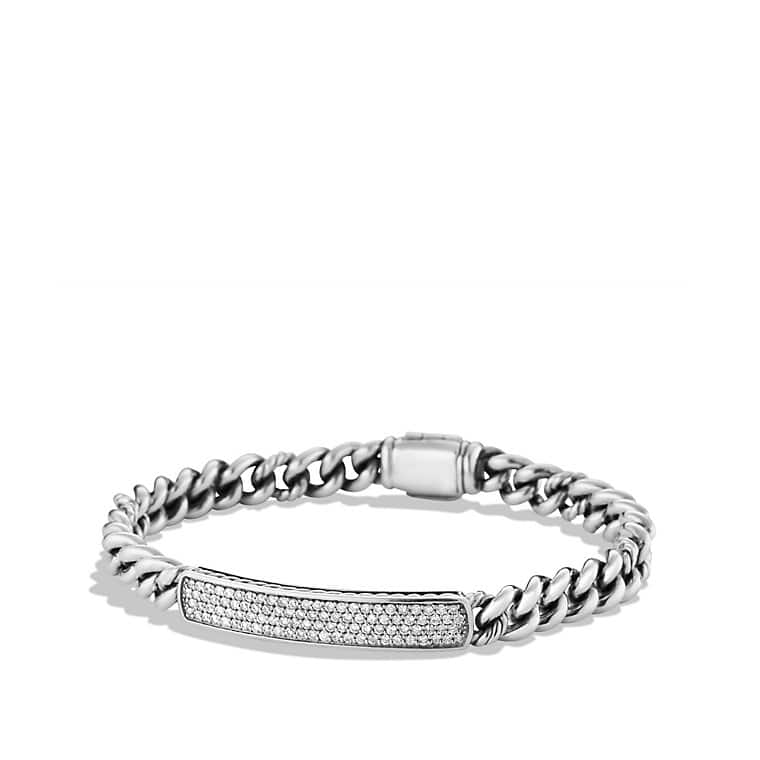Petite Pavé ID Bracelet with Diamonds