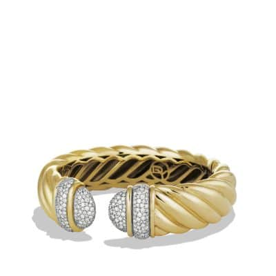 Waverly Cuff Bracelet with Diamonds in Gold