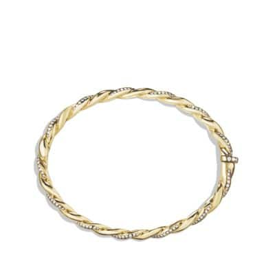 Wisteria Bracelet with Diamonds in Gold