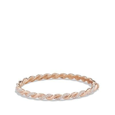 Wisteria Bracelet with Diamonds in 18K Rose Gold, 5mm