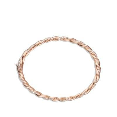 Wisteria Bracelet with Diamonds in Rose Gold