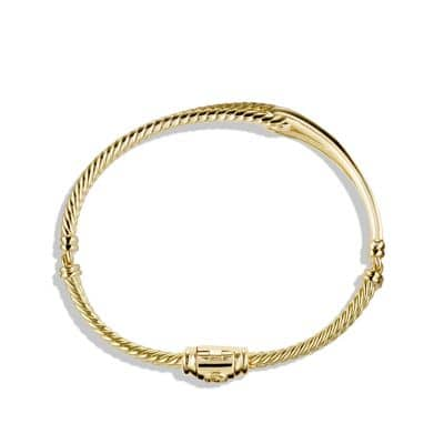 Petite Pavé Labyrinth Single-Loop Bracelet in Gold