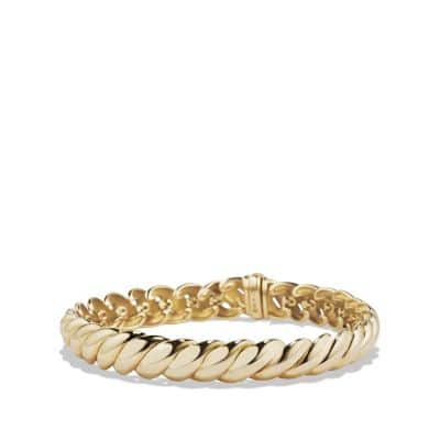 Hampton Cable Bracelet in 18K Gold. 8.5mm