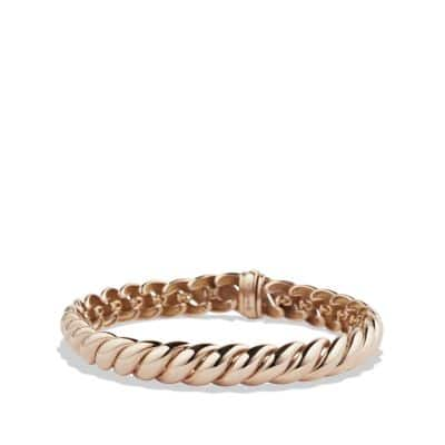 Hampton Cable Bracelet in 18K Rose Gold, 8.5mm