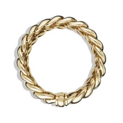 Hampton Cable Bracelet in 18K Gold, 19mm