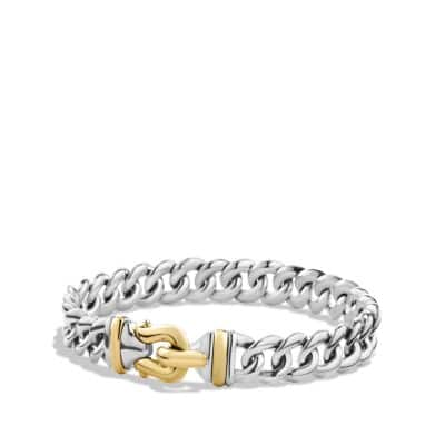 Buckle Single-Row Bracelet with 18K Gold, 10mm