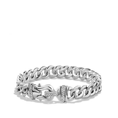 Buckle Single-Row Bracelet with Diamonds