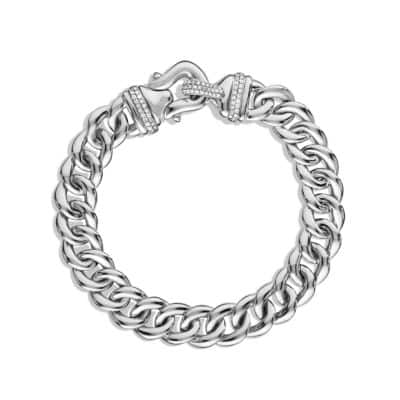 Buckle Single-Row Bracelet with Diamonds, 10mm