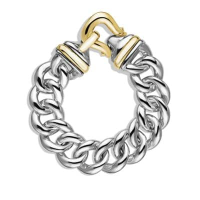 Buckle Single-Row Bracelet with 18K Gold, 19mm