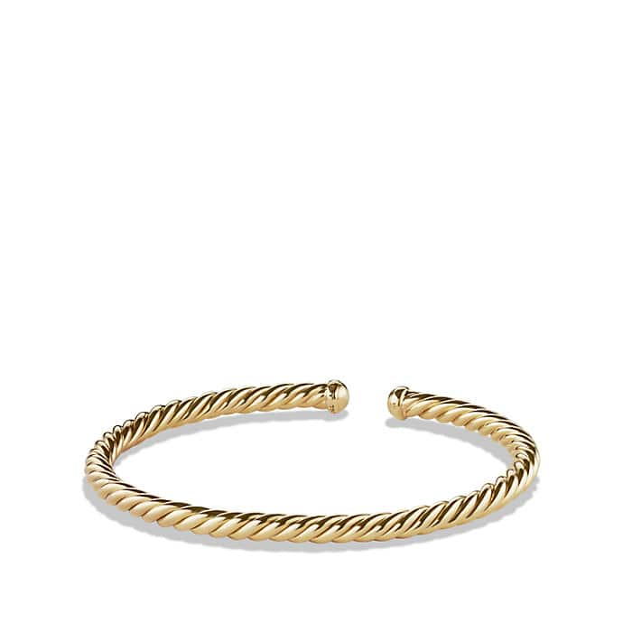 Cable Spira® Bracelet in 18K Gold, 4mm