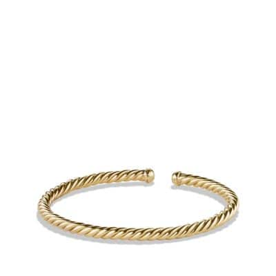 Cable Spira® Bracelet in 18K Gold, 4mm thumbnail