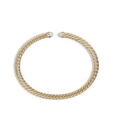 Cable Spira Bracelet with Diamonds in 18K Gold