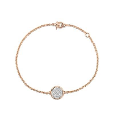 Cable Collectibles Bracelet with Diamonds in 18K Rose Gold