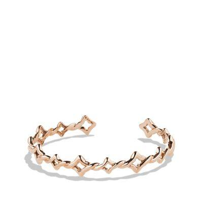 Venetian Quatrefoil Single-Row Cuff Bracelet in Rose Gold