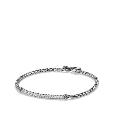 Petite Pavé Bar Bracelet with Diamonds