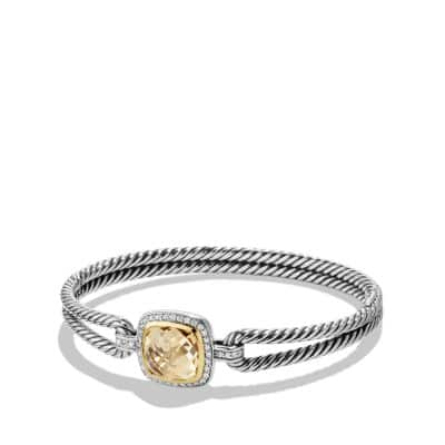Albion® Bracelet with Champagne Citrine, Diamonds and 18K Gold, 6mm