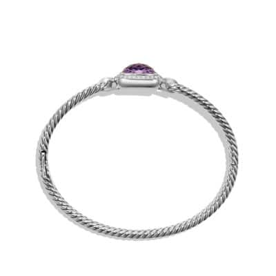Albion Bracelet with Amethyst and Diamonds, 11mm