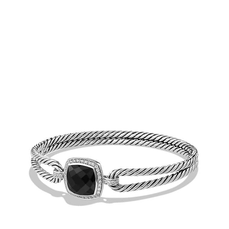 Albion® Bracelet with Black Onyx and Diamonds, 11mm