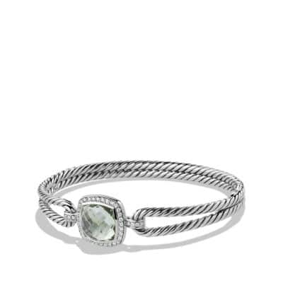 Albion® Bracelet with Prasiolite and Diamonds, 11mm