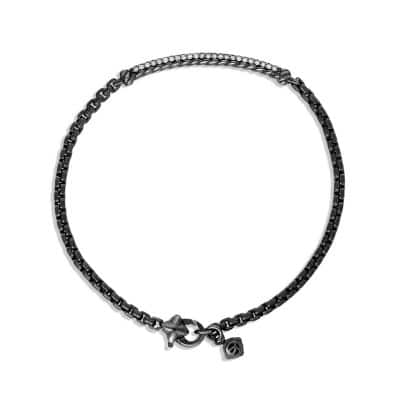 Petite Pavé Bar Bracelet with Gray Diamonds