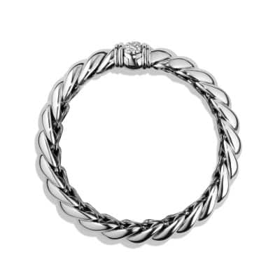 Hampton Cable Bracelet with Diamonds, 14mm