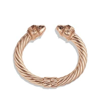 Renaissance Bracelet with Cognac Diamonds in Rose Gold, 10mm