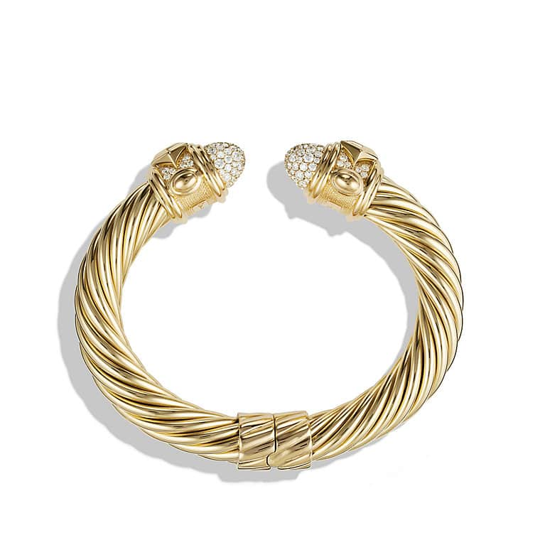 Renaissance Bracelet with Diamonds in 18K Gold, 10mm