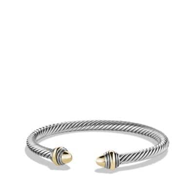 Cable Classic Bracelet with 14K Gold, 5mm