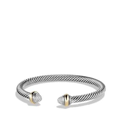 Cable Classics Bracelet with Diamonds and 14K Gold, 5mm thumbnail