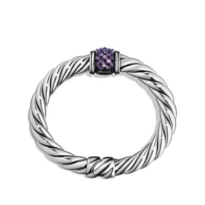 Osetra Center Station Bracelet with Amethyst, 10mm