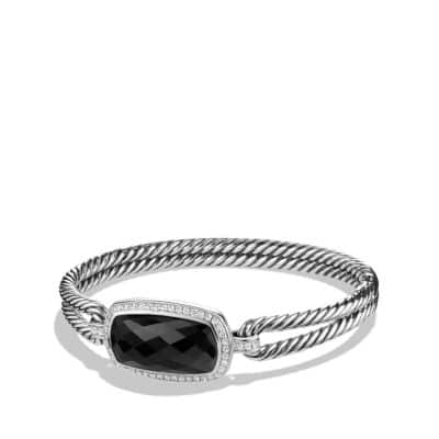 Albion Bracelet with Black Onyx and Diamonds, 12mm thumbnail