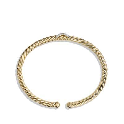 X Cablespira Bracelet with Diamonds in 18K Gold