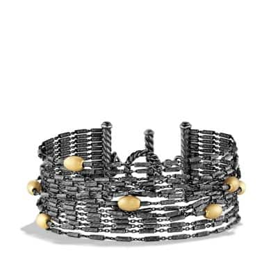 Chain Fifteen-row Bracelet with 18K Gold