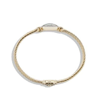 Bracelet with Diamonds in 18K Gold, 15mm