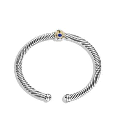 Bracelet with Blue Topaz, Lapis Lazuli and 14K Gold