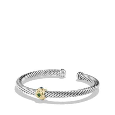 Bracelet with Chrome Diopside, Hampton Blue Topaz and 14K Gold