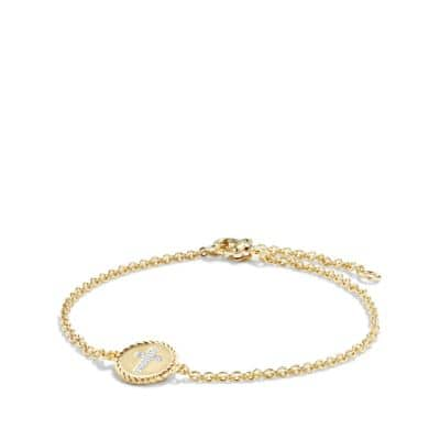 Cable Collectibles Cross Bracelet with Diamonds in 18K Gold