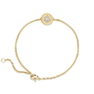 Cable Collectibles Star of David Bracelet with Diamonds in 18K Gold