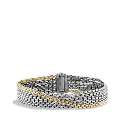Chain Five -Row Bracelet with 18K Gold, 2.7mm