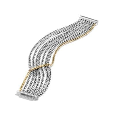 Chain Eight-Row Bracelet with 18K Gold