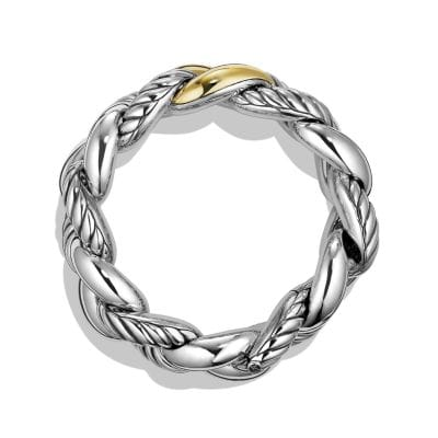 Belmont® Curb Link Bracelet with 18K Gold, 25mm