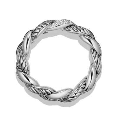 Belmont Curb Link Bracelet with Diamonds