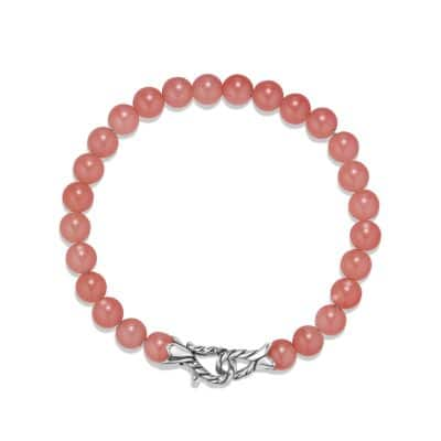 Spiritual Beads Bracelet with Guava Quartz, 6mm