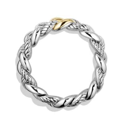 Belmont Curb Link Bracelet with 18K Gold, 18mm