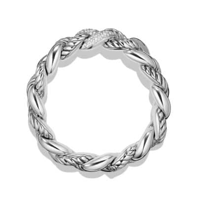 Belmont Curb Link Bracelet with Diamonds, 18mm
