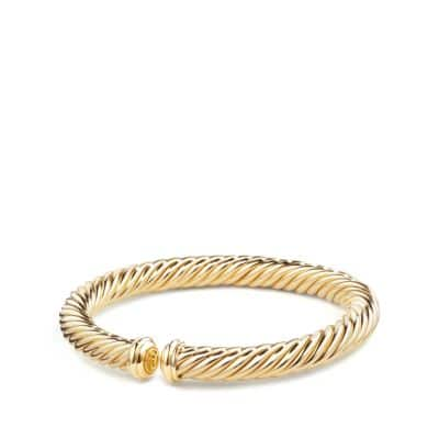 Cable Spira Bracelet in 18K Gold, 7mm