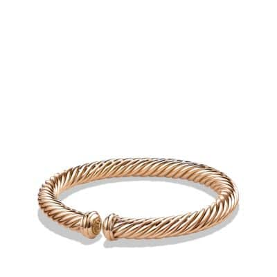 Cable Spira Bracelet in 18K Rose Gold, 7mm