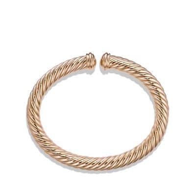 Cable Spira Bracelet in 18K Rose Gold